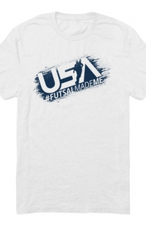 Usa Futsal Made Me Tee (White)