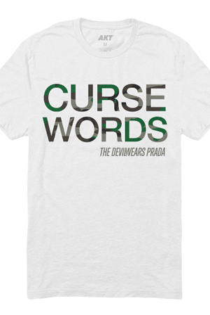 Curse Words Tee (White)
