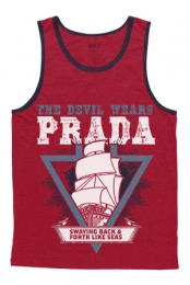 Like Seas Tank (Red w/ Navy)