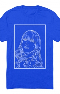 Girl With Snake Hair Tee (Royal Blue)