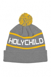 Winter Pom Beanie (Grey, Yellow, White)