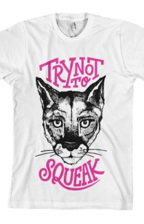 Try Not To Squeak Tee (White)
