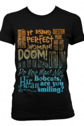 Gradient Lyrics Girls Tee (Black)