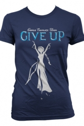 Give Up Girls Tee (Navy)