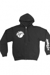 Logo Zip Up Hoodie (Black)