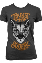 Try Not to Squeak Girls Tee (Charcoal)