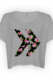 Floral Logo Crop (Heather Grey)