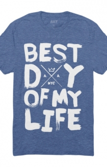 Best Day of My Life Tee (Vintage Royal)