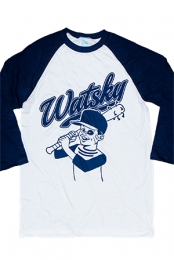 Baseball Raglan (White with Navy)