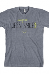 Makes Me Smile Tee (Heather Grey)