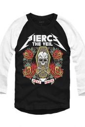 Metal Raglan (Black/White)