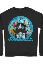 Deep Sea Dog Crewneck Sweatshirt (Black)
