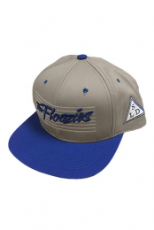 The Floozies Snapback (Blue And Tan)