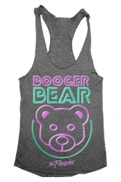 Booger Bear Girls Racerback Tank (Heather Grey)