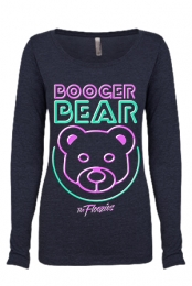 Booger Bear Girls Scoopneck (Vintage Navy)