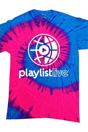 6a74e69f4121 Tie Dye Global Tee (Blue & Pink) Shirt - Playlist Live Shirts - Online  Store on District Lines