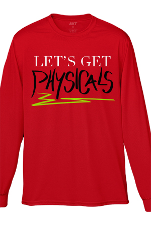 Let's Get Physicals Longsleeve Tee (Red)