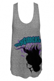 Feathers Racerback Ladies Tank (Heather Grey)