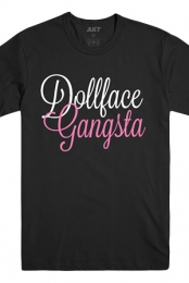 Cursive Dollface Gangsta Tee (Black)