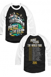 RV Tour Raglan (Black / White Sleeves)