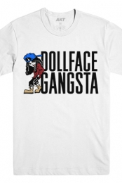 Cartoon Dollface Gangsta Tee (White)