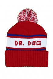 Dr. Dog Pom Beanie (Red)
