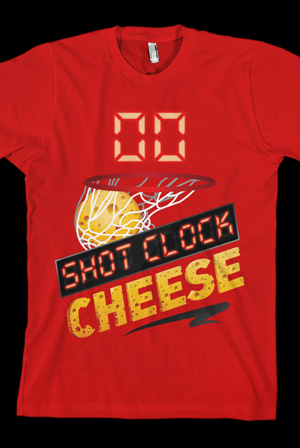 Shot Clock Cheese Tee (Red)