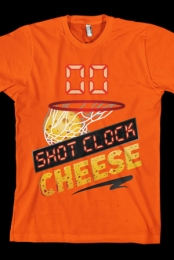 Shot Clock Cheese Tee (Orange)