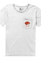 Sushi All Day Tee (White/White) +  Sushi MP3 Track Download