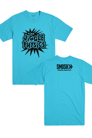 Team Physics Tee (Neon Blue)