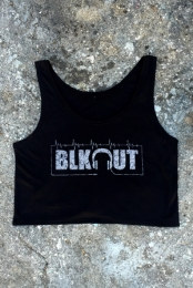 Blkout Floral Crop Top