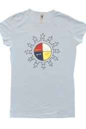 Bird Spirit Girls Tee (Light Blue)