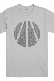 Halftone Tee (Silver)