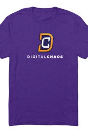 Digital Chaos Logo Tee (Purple)