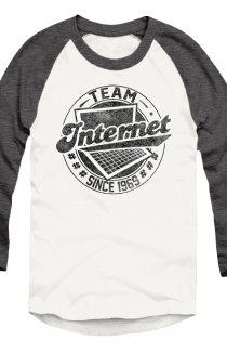 #TeamInternet Raglan (Heather Charcoal)