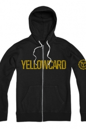 Logo Zip Up Hoodie (Black/Yellow)