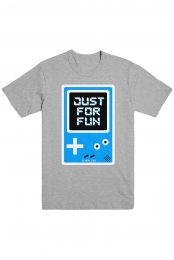 Just For Fun Gaming Tee (Heather Grey)