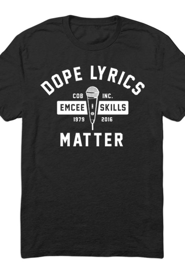 Lyric black lyrics : Dope Lyrics (Black) T-shirt - COB T-shirts - Online Store on ...
