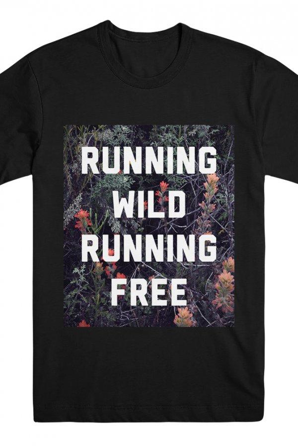 Running Wild Tee Black