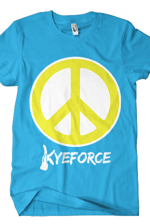 Peace Tee (Turquoise)