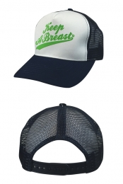 Green Logo Trucker Hat (Navy)