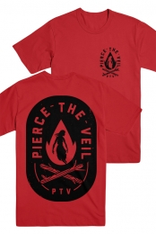 Fire Badge Tee (Red)