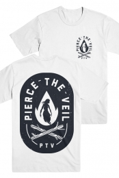 Fire Badge Tee (White)