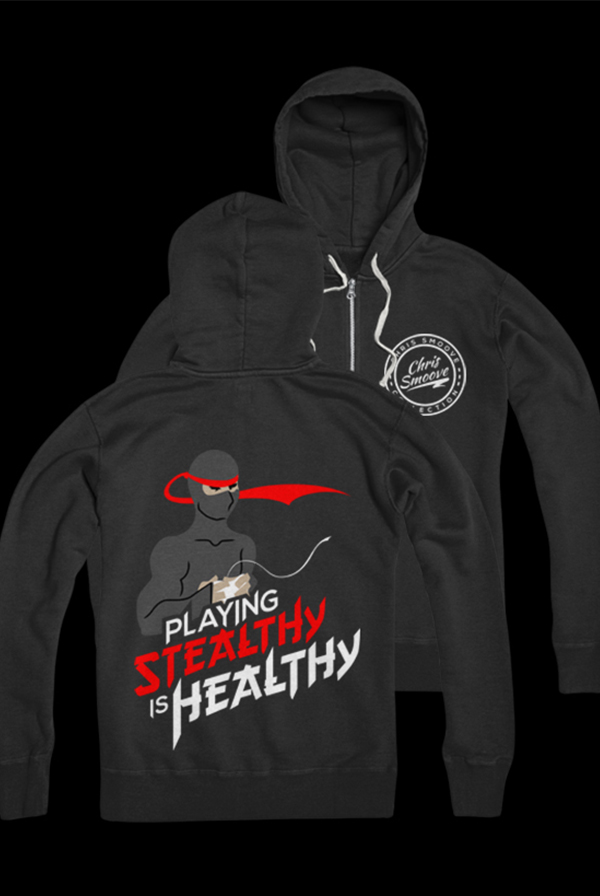 stealthy is healthy zip up outerwear chris smoove outerwear