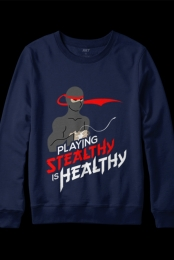 Stealthy is Healthy Crewneck (Navy)