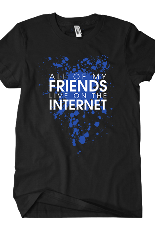 All of My Friends Tee (Black)