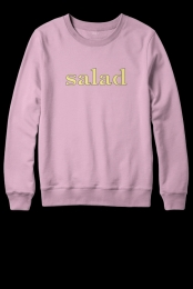Salad Crewneck Sweatshirt (Light Pink)
