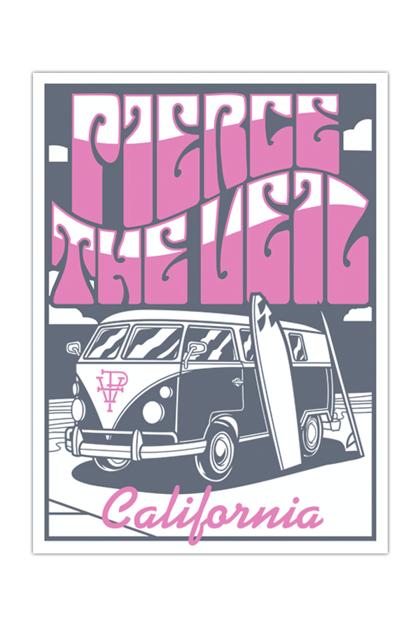 PTV CALI Silk Screen Printed Poster