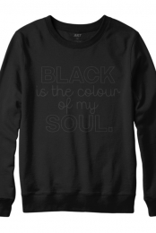 Black is the Colour of My Soul Crewneck Sweatshirt