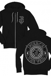 Seal Zip Up Hoodie (Black)